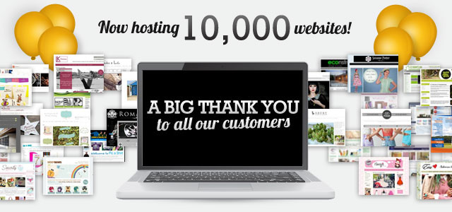 Create Now Hosts Over 10,000 Websites!