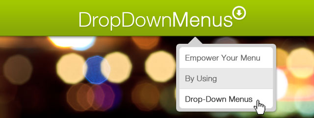Drop-Down Menus Banner