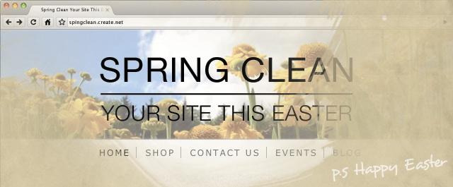 Spring Clean Your Site
